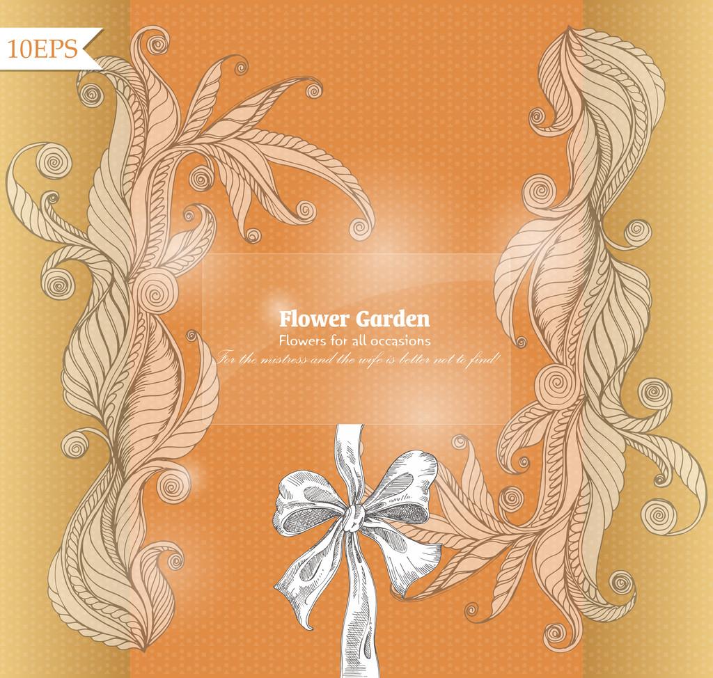 Floral vector background design