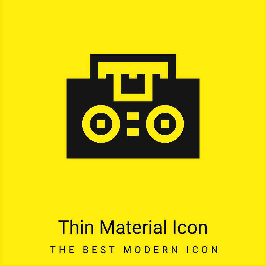 Boombox minimal bright yellow material icon