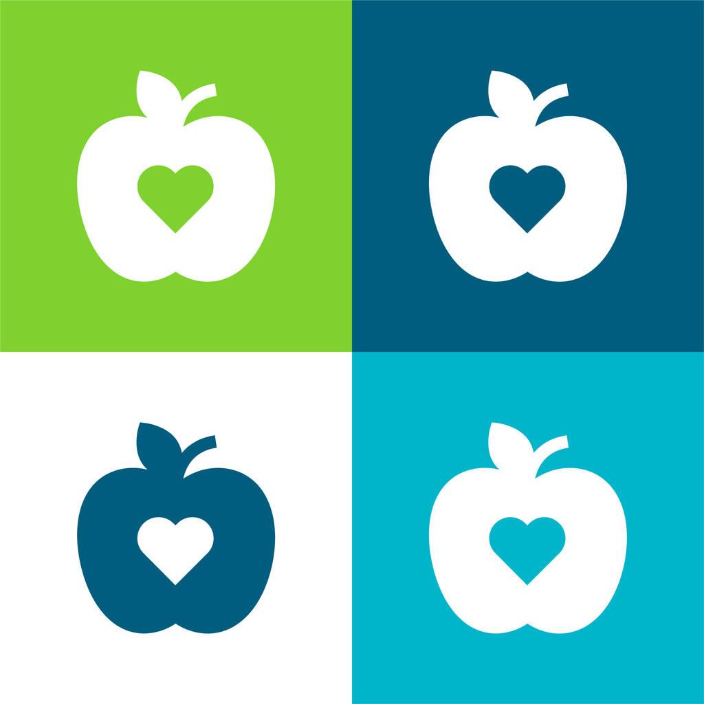 Apple Flat four color minimal icon set