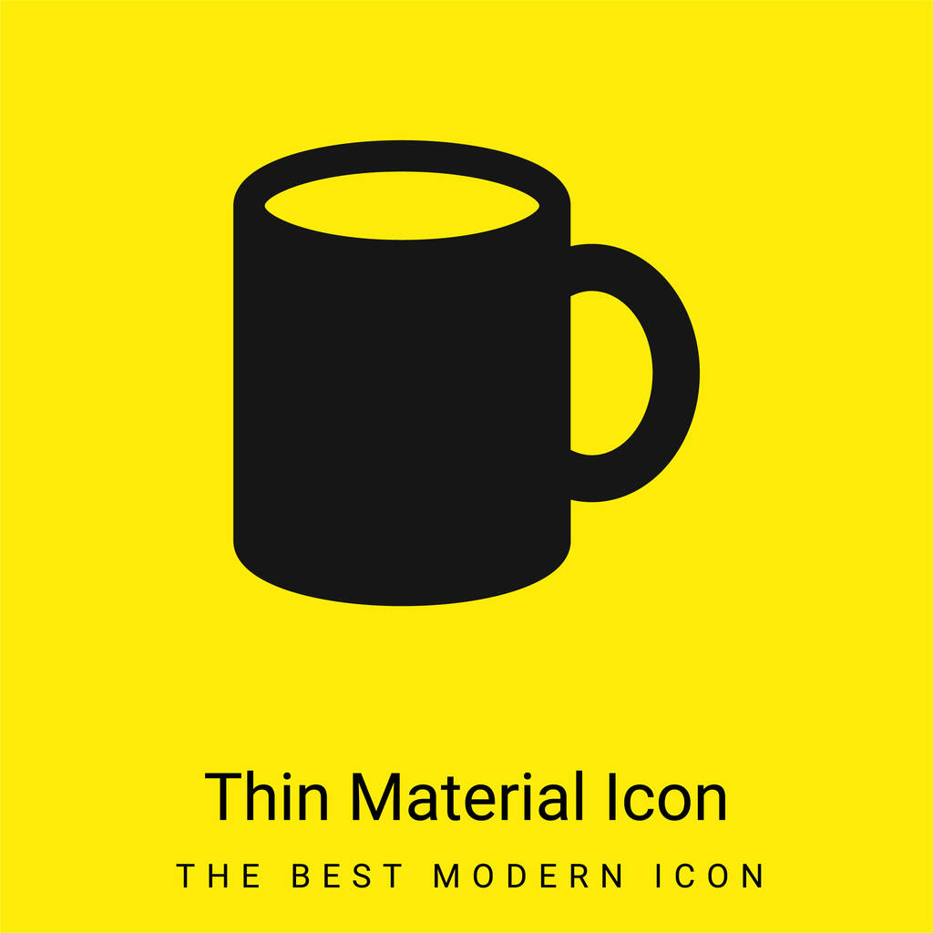 Big Cup minimal bright yellow material icon