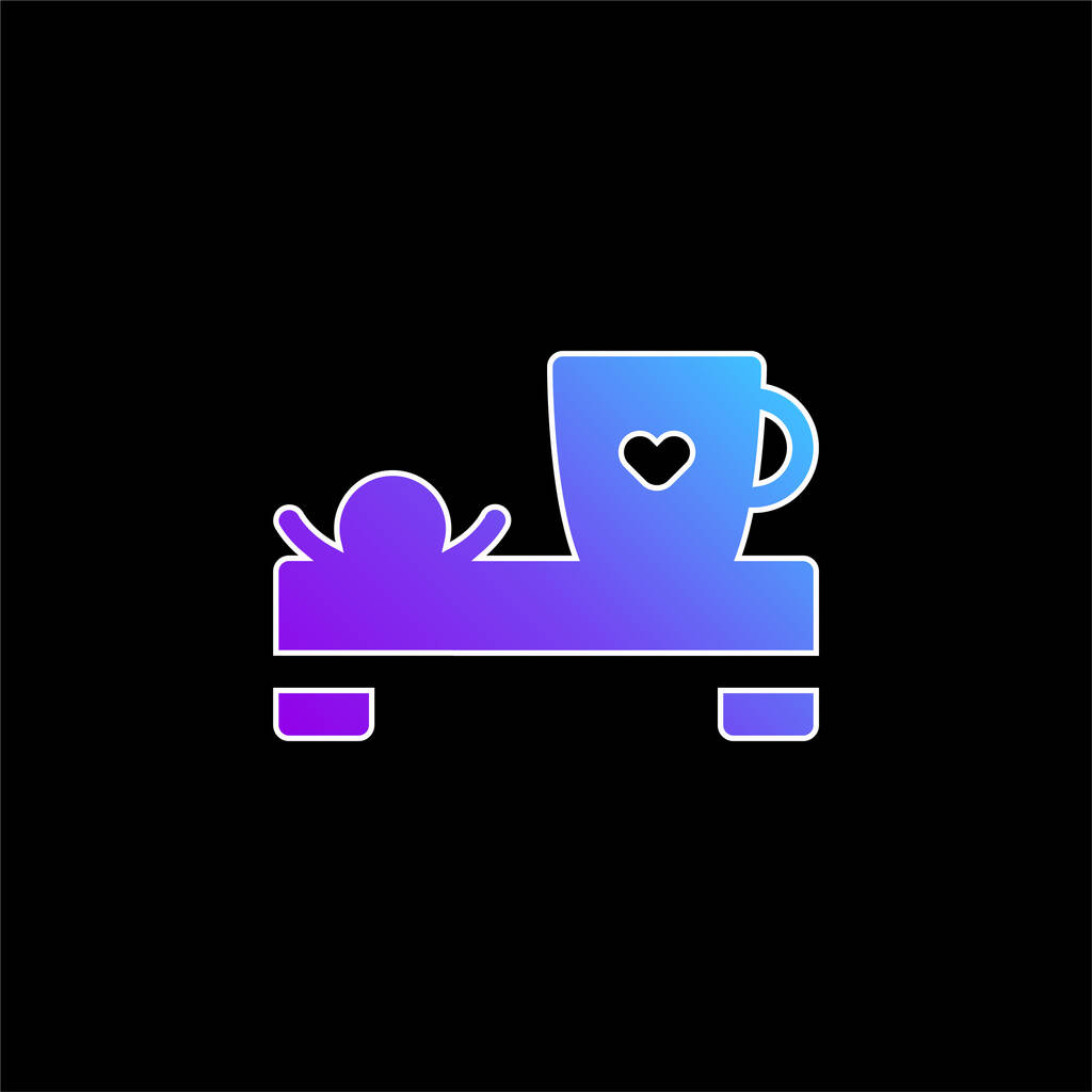 Bed And Breakfast blue gradient vector icon