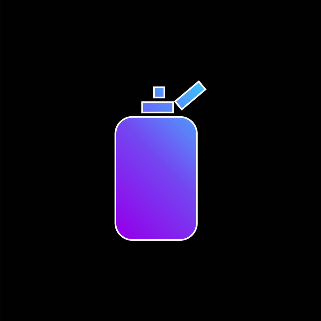 Bathroom Bottle Container Of Rounded Rectangular Black Shape blue gradient vector icon