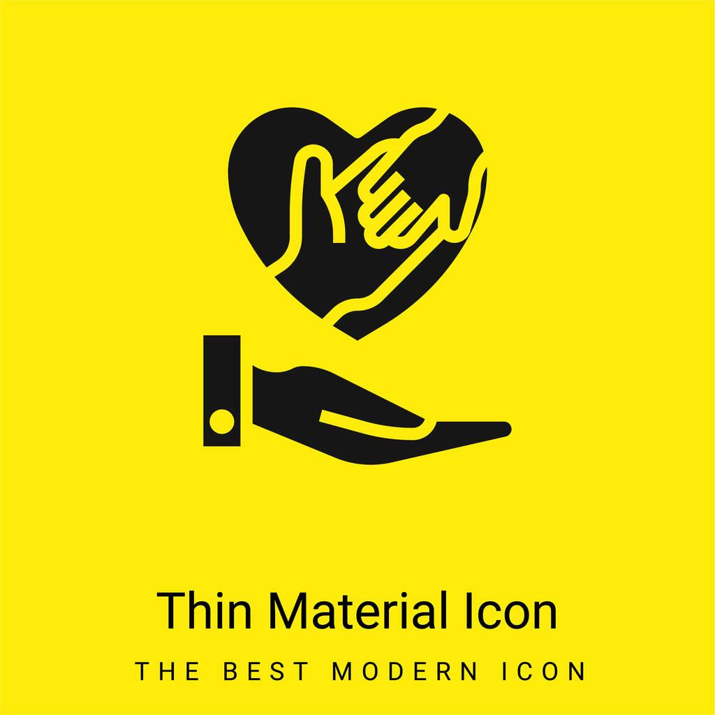 Adoption minimal bright yellow material icon
