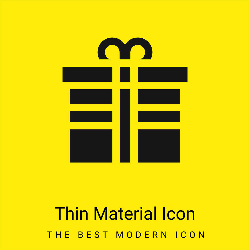 Birthday minimal bright yellow material icon
