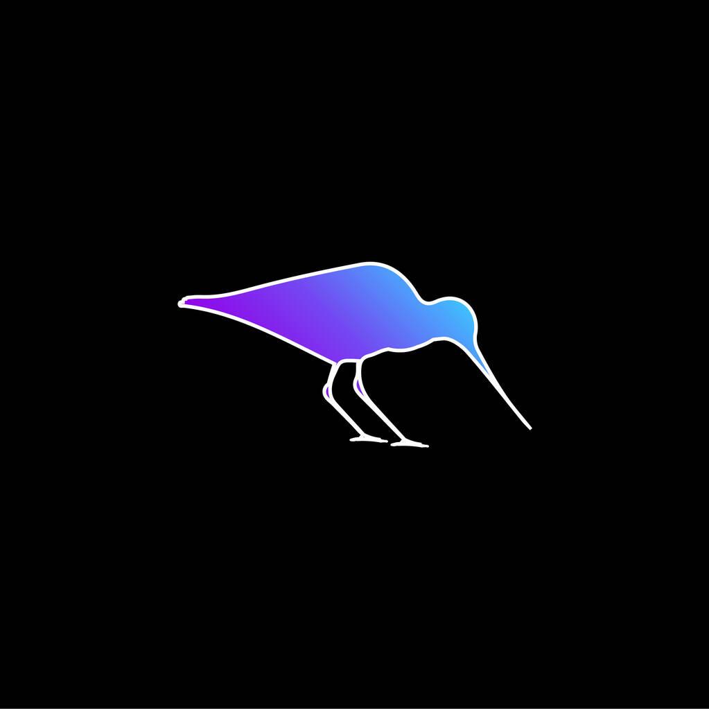 Bird Oystercatcher blue gradient vector icon