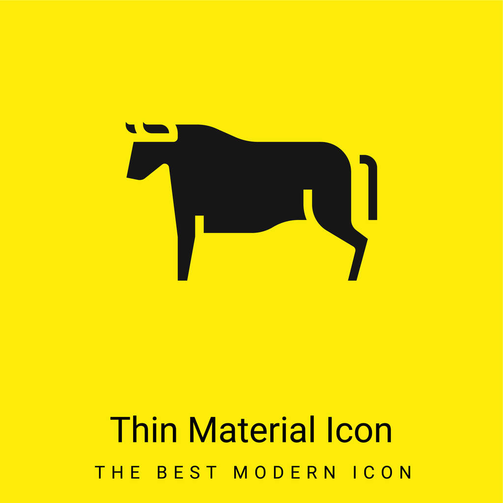 Beef minimal bright yellow material icon