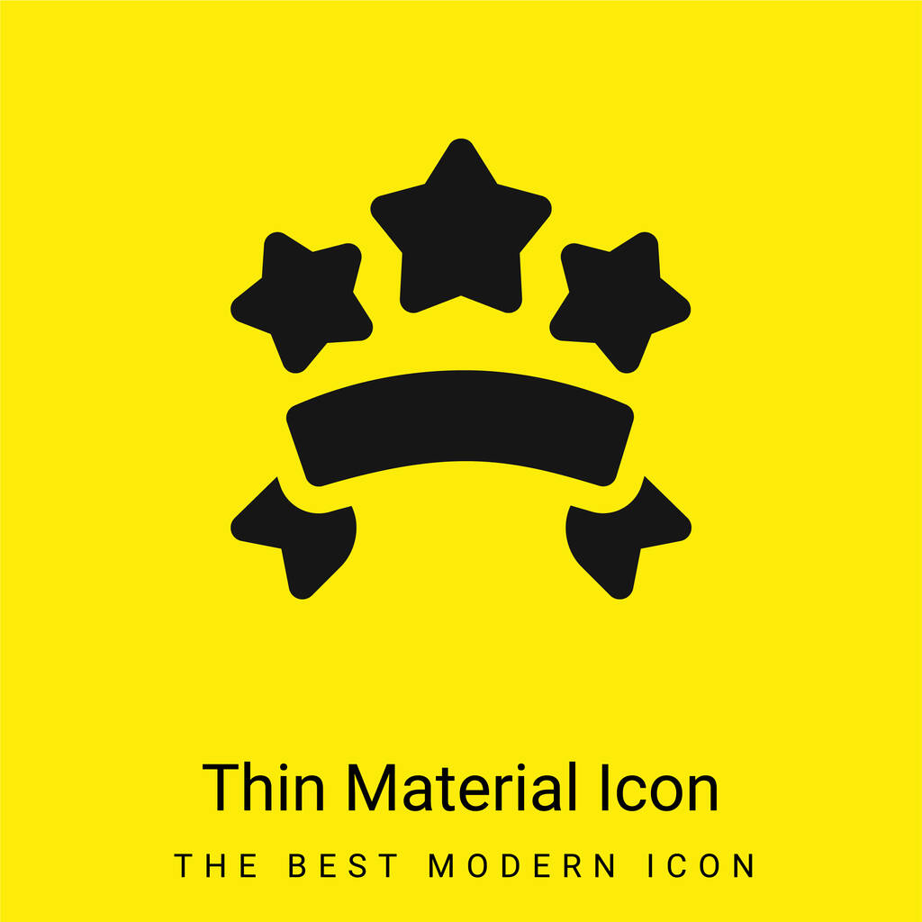 Banners minimal bright yellow material icon