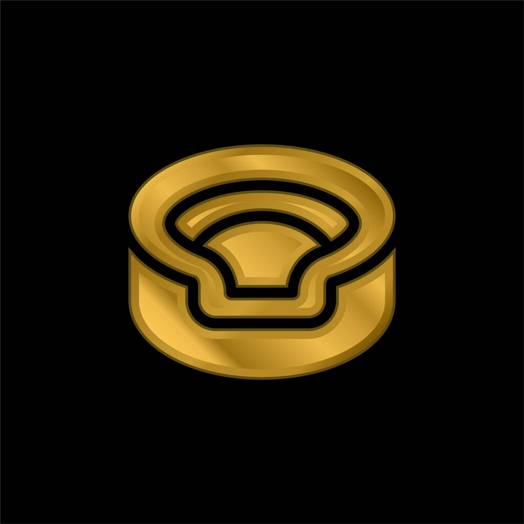 Animal gold plated metalic icon or logo vector