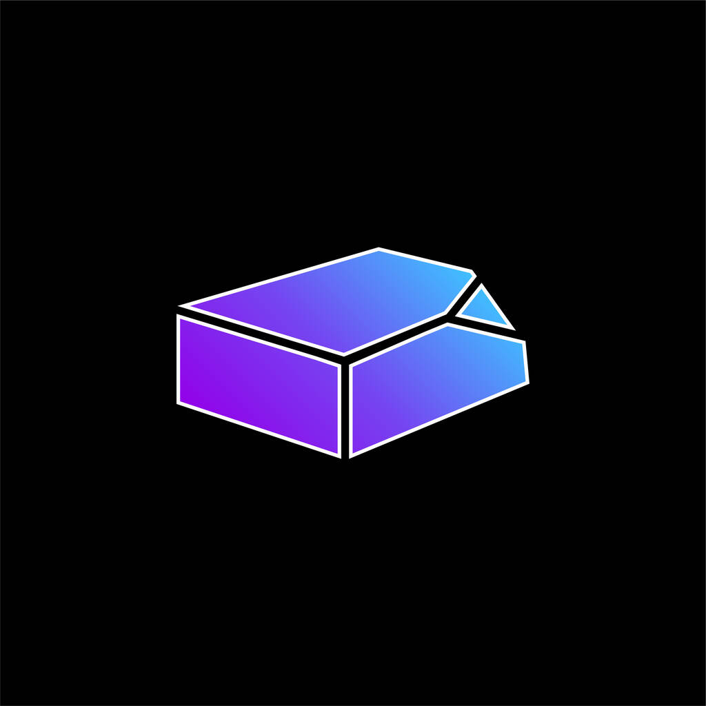 Box Organization Tool blue gradient vector icon