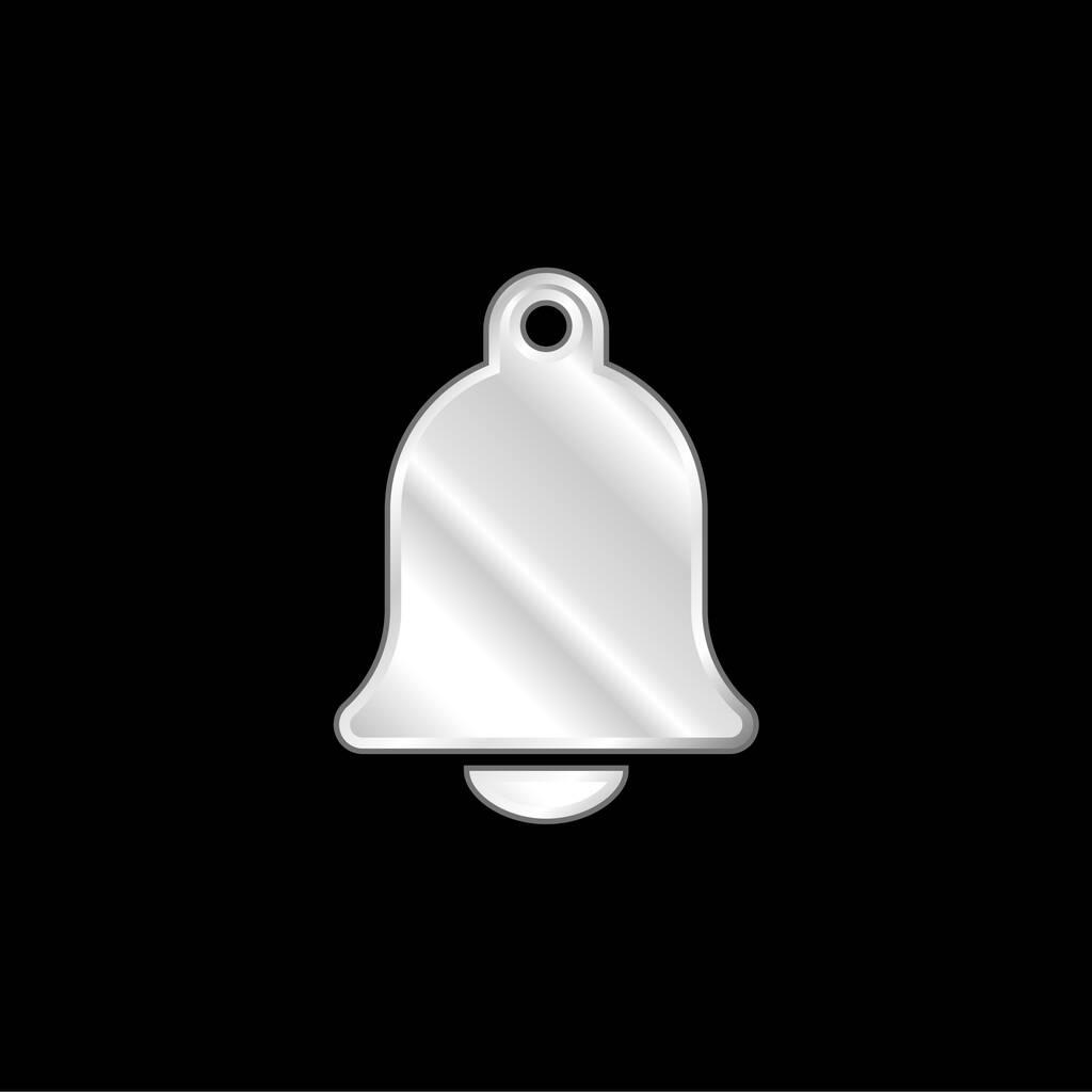 Big Church Bell silver plated metallic icon