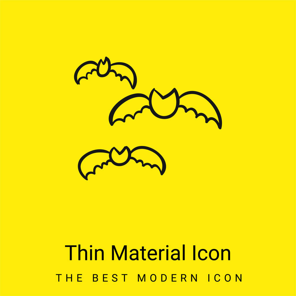 Bats Group Outline minimal bright yellow material icon