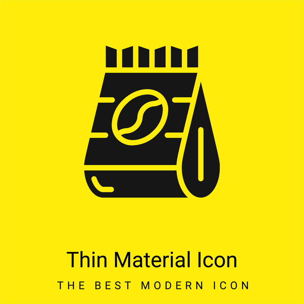 Beans minimal bright yellow material icon