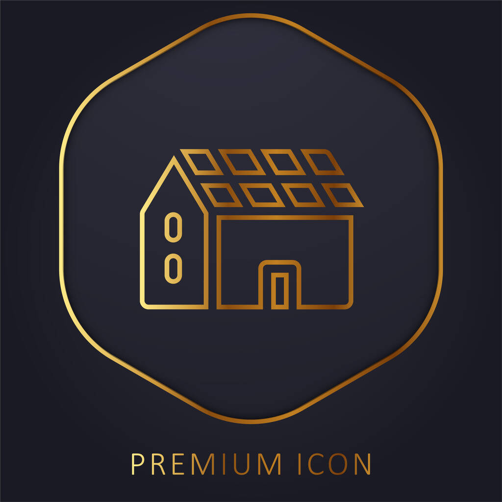 Battery golden line premium logo or icon