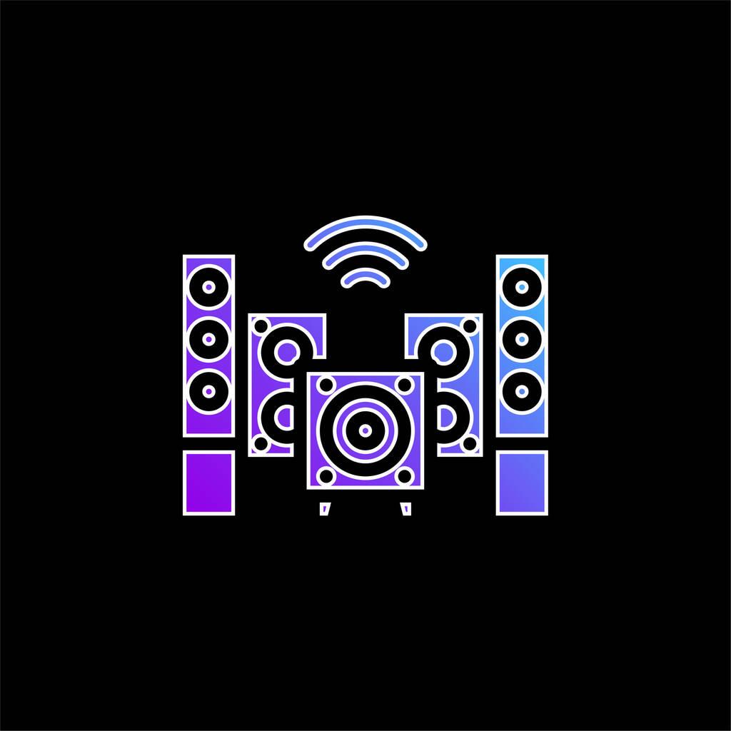 Audio blue gradient vector icon