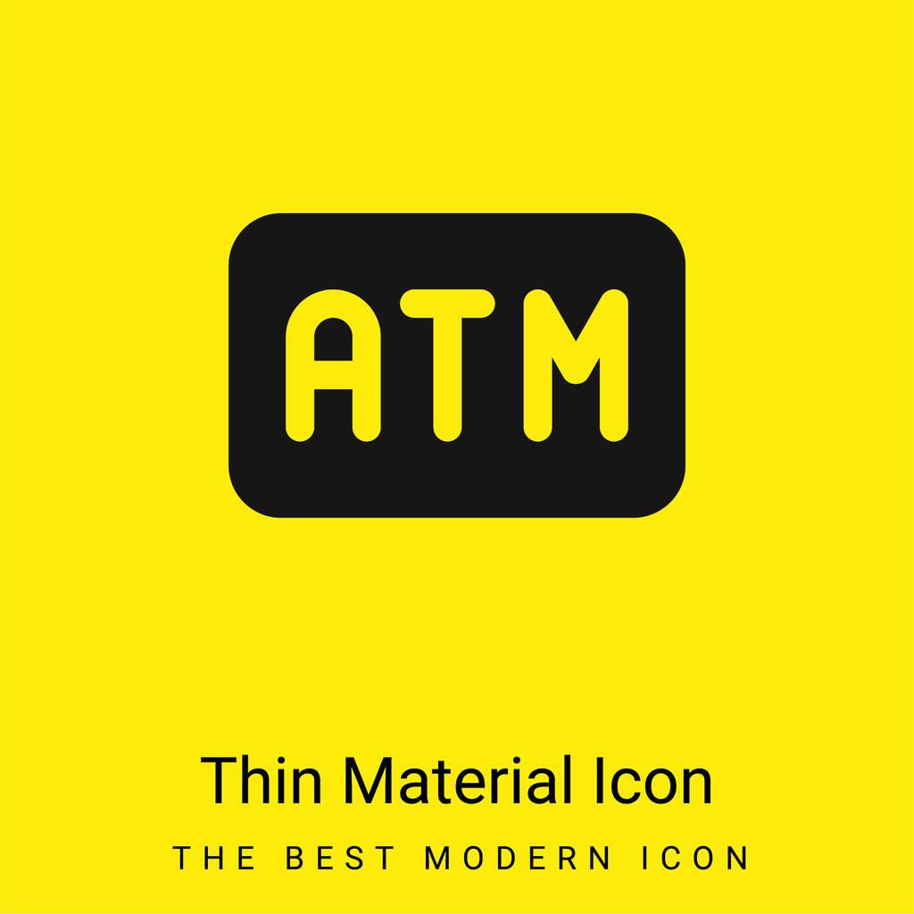 Atm Machine minimal bright yellow material icon