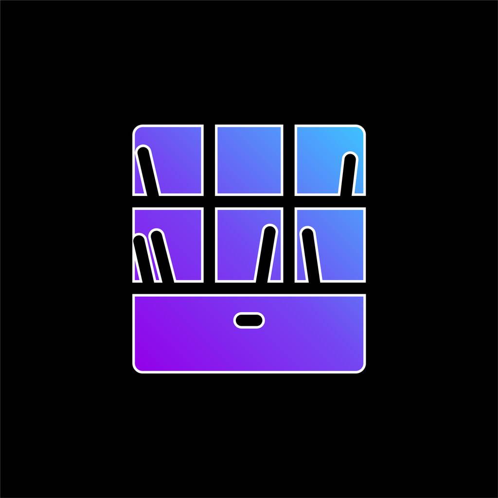 Bookshelve blue gradient vector icon