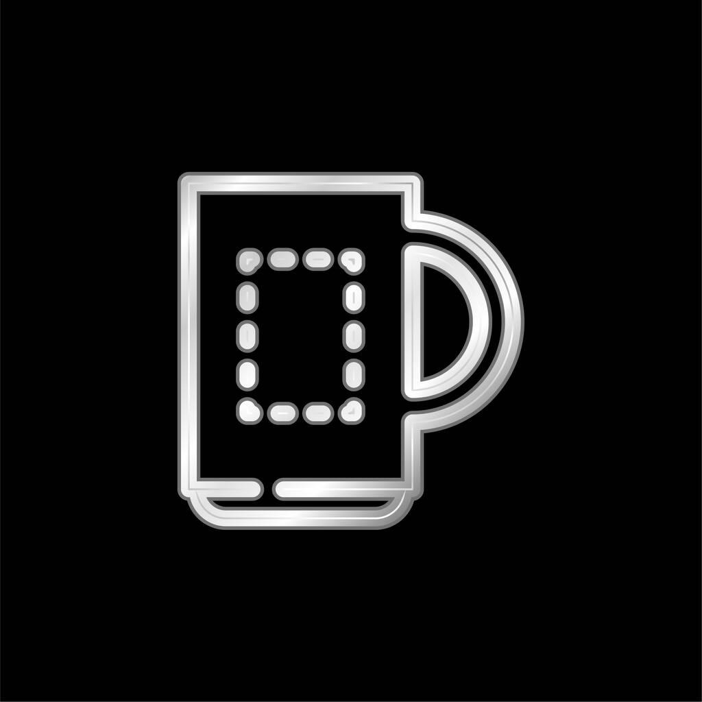 Big Mug silver plated metallic icon