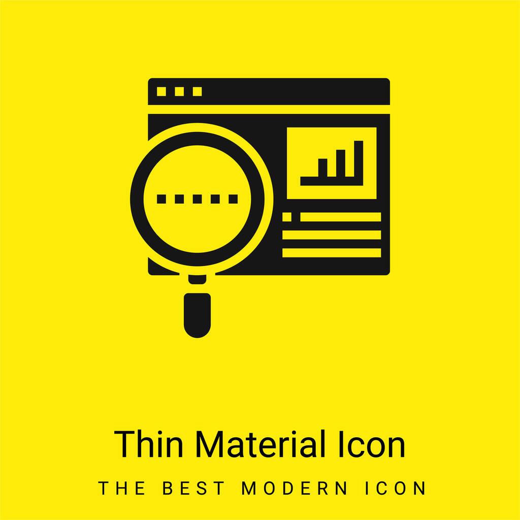 Analytics minimal bright yellow material icon
