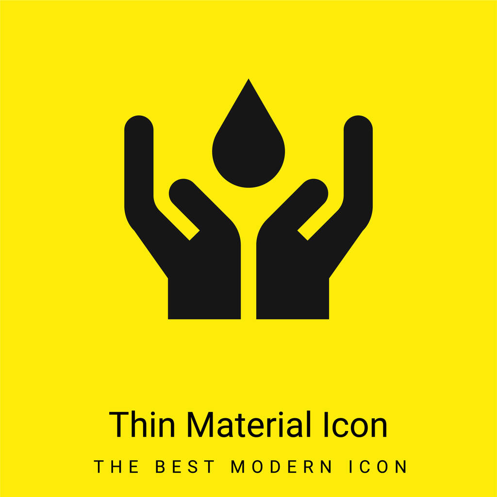 Blood minimal bright yellow material icon