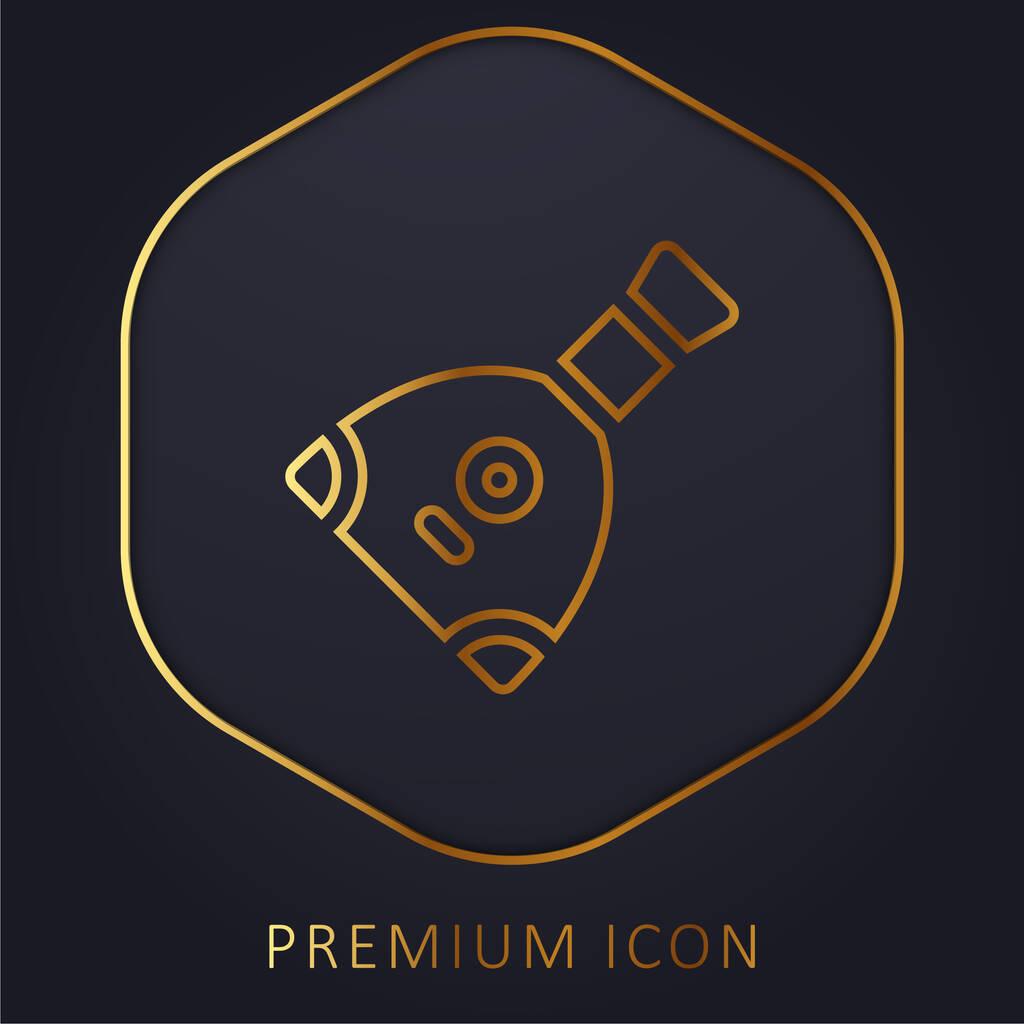 Balalaika golden line premium logo or icon