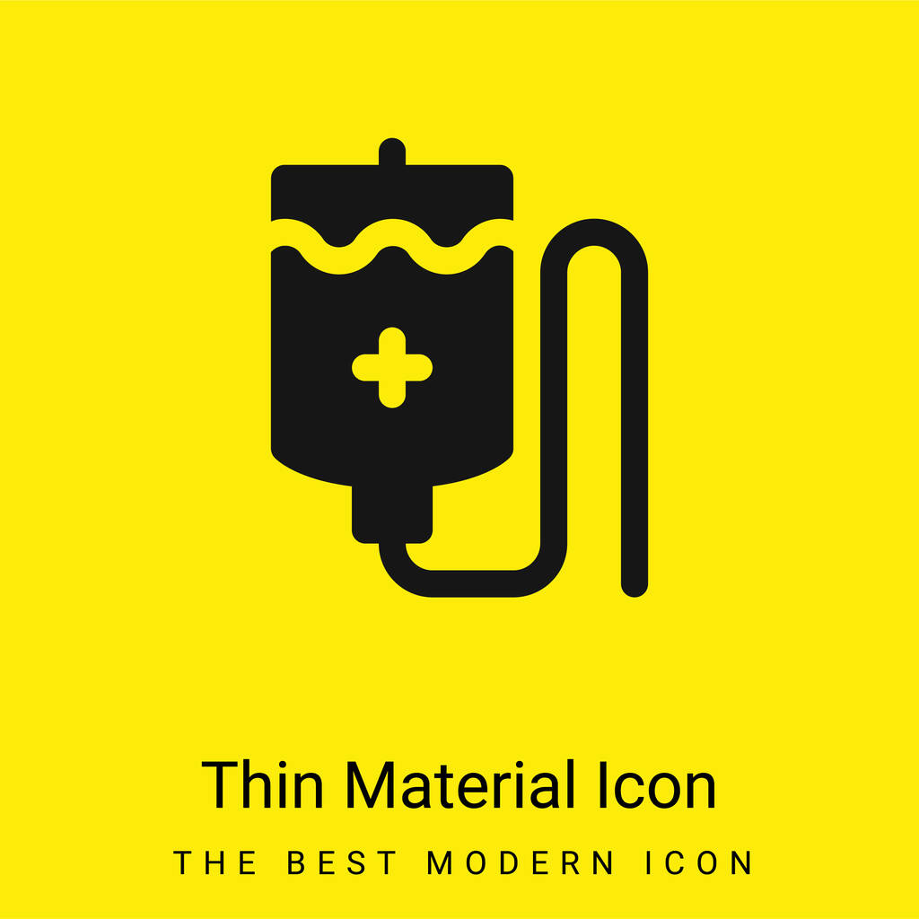 Blood Bag minimal bright yellow material icon