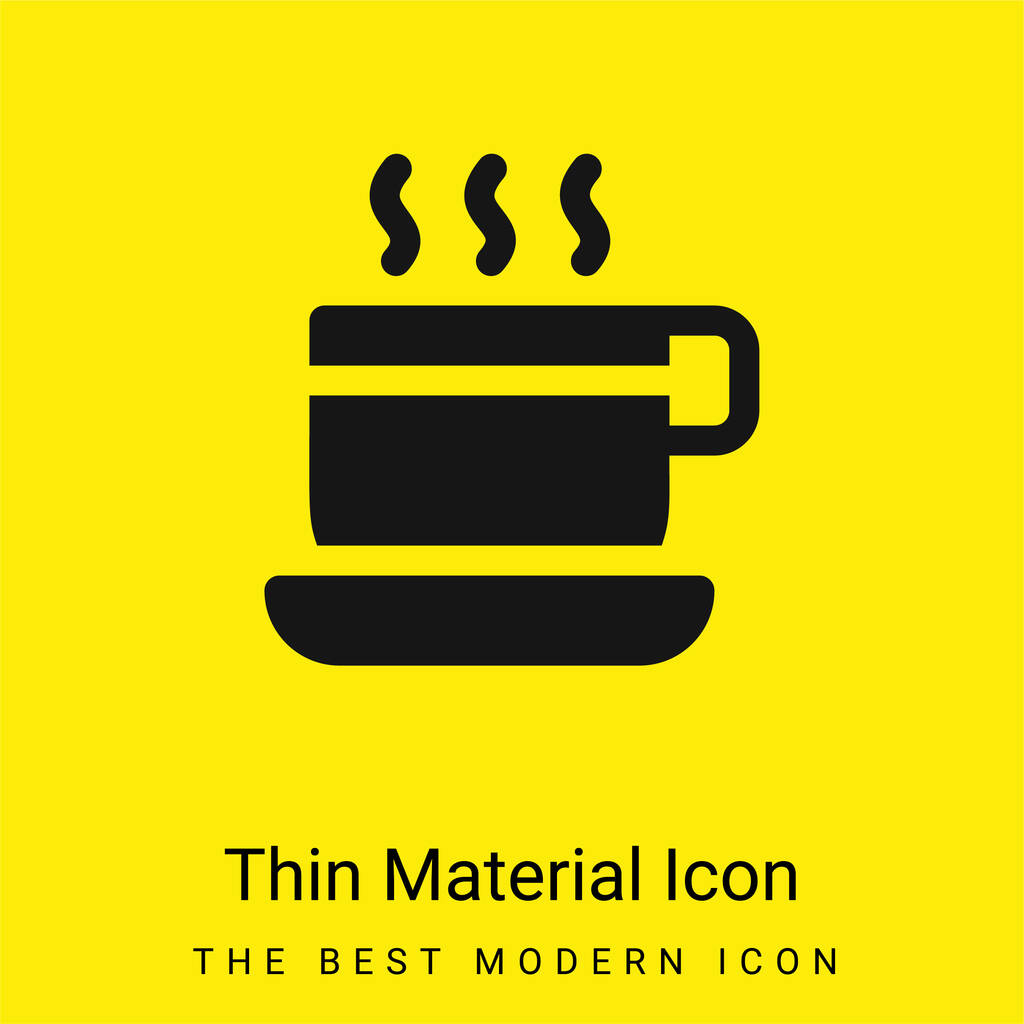 Break Time minimal bright yellow material icon