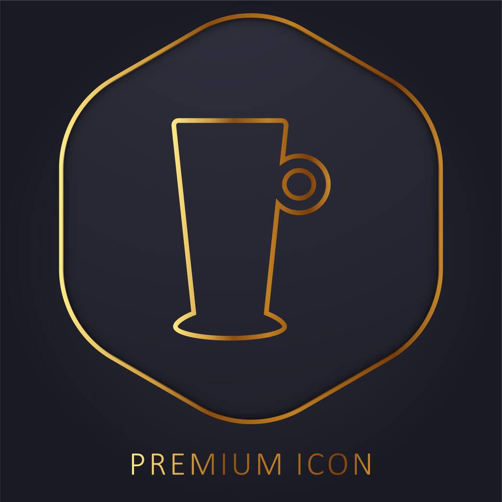 Big Cup golden line premium logo or icon