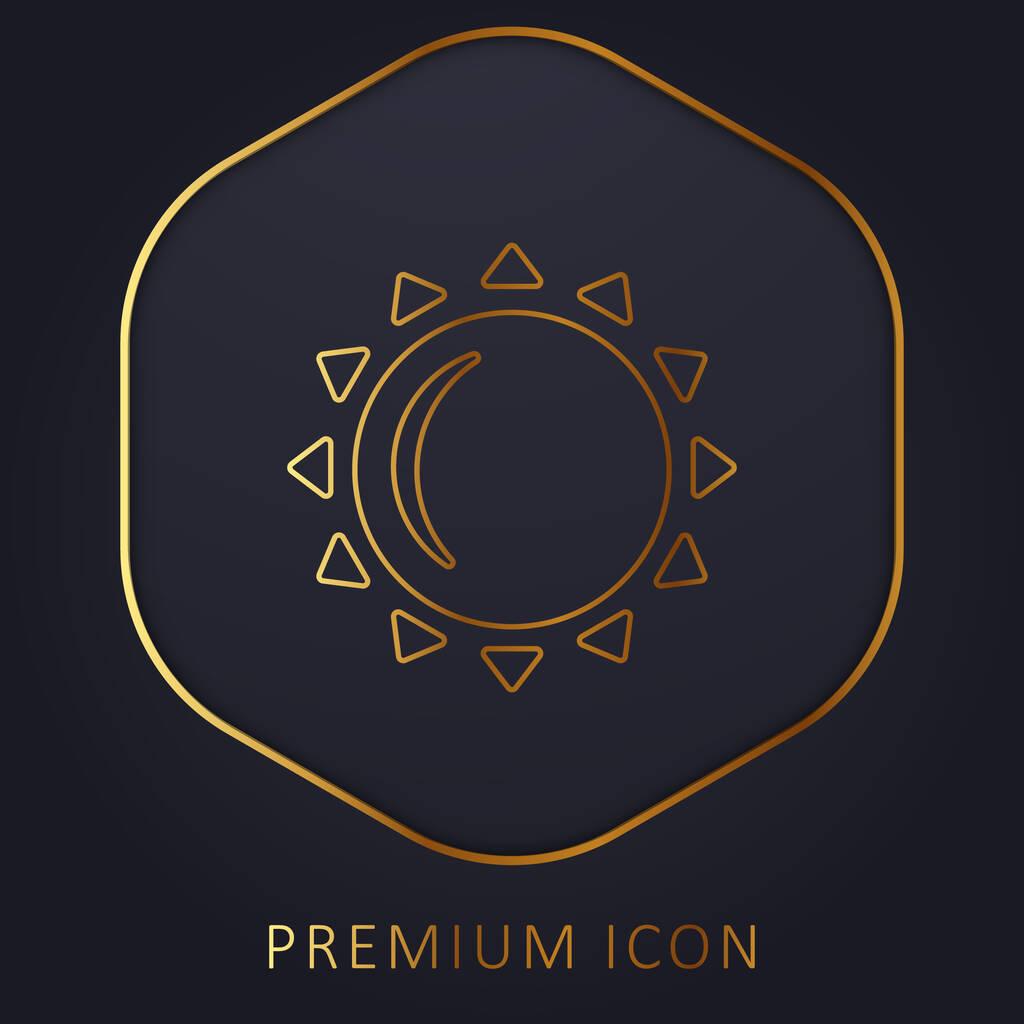 Big Sun golden line premium logo or icon