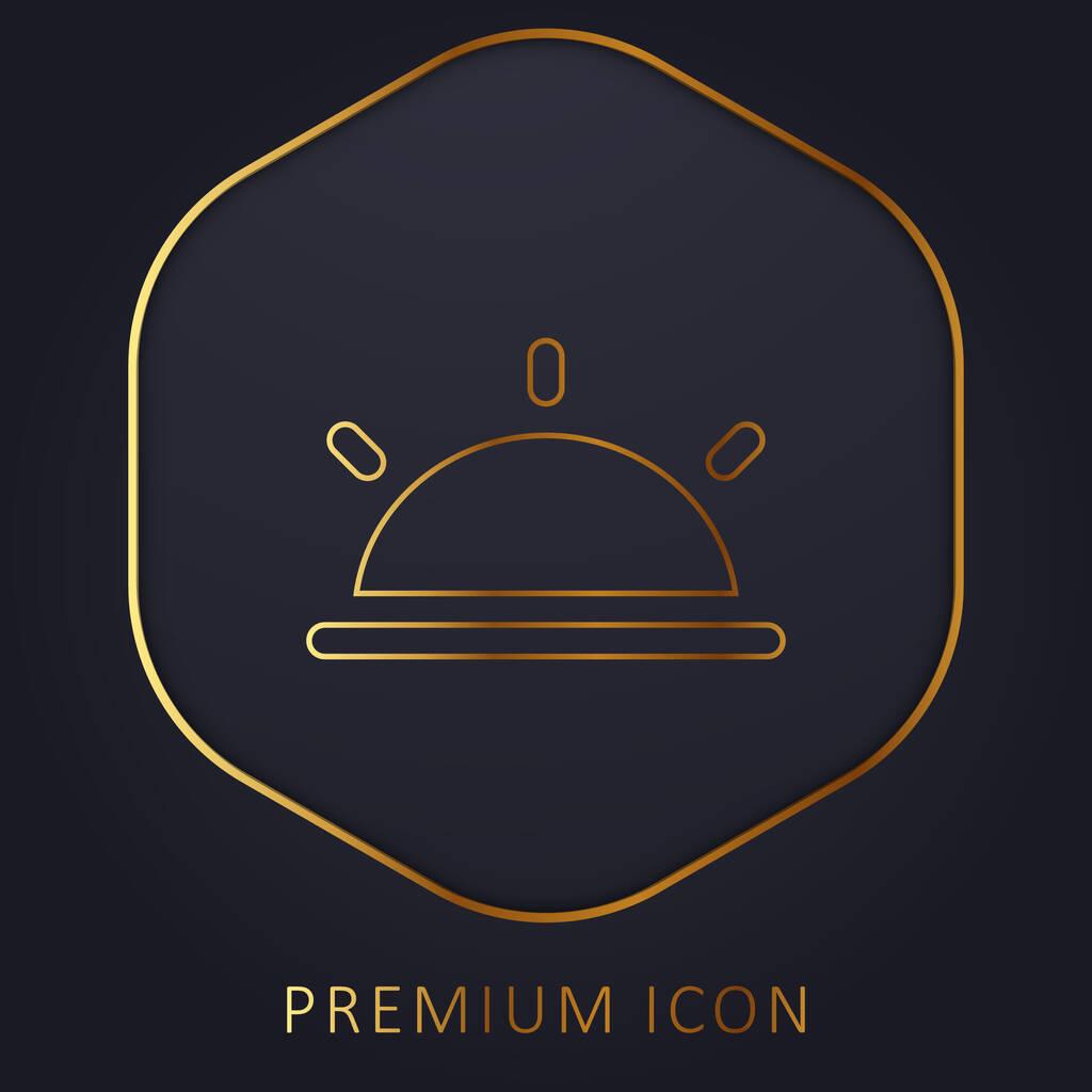 Black Half Sun golden line premium logo or icon