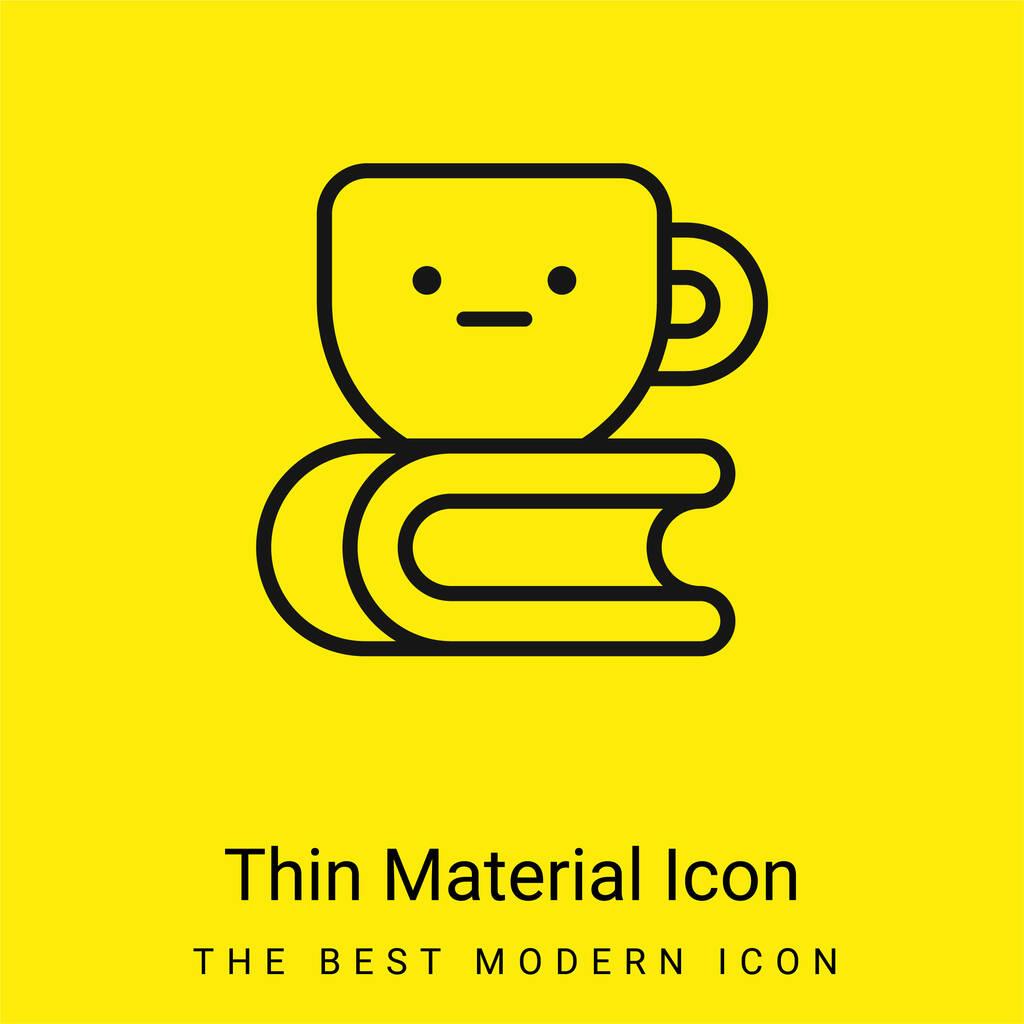 Book minimal bright yellow material icon