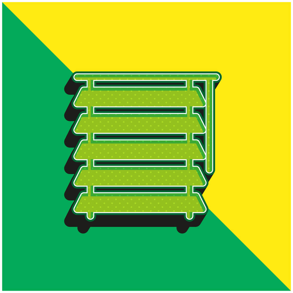 Blind Green and yellow modern 3d vector icon logo