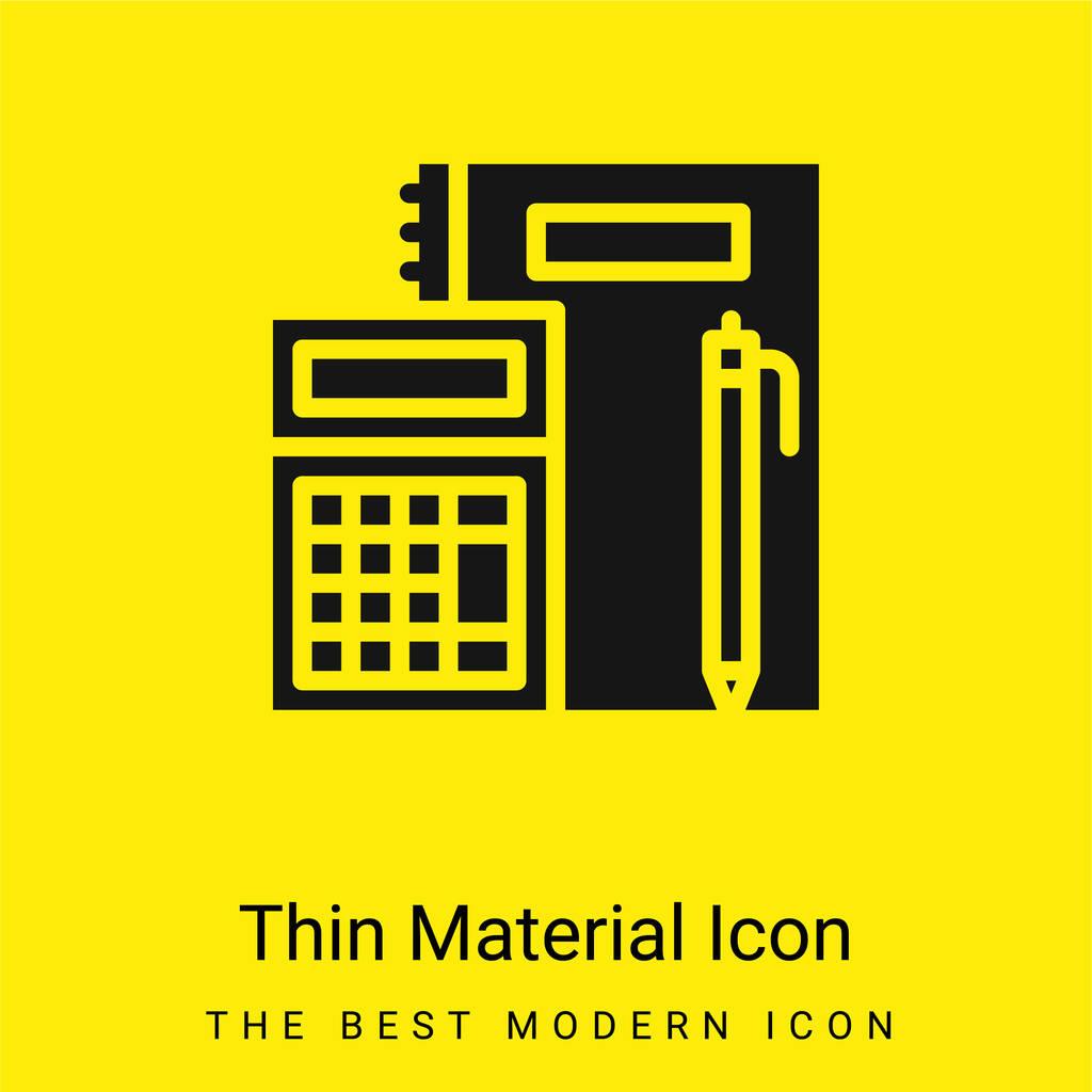 Accounting minimal bright yellow material icon