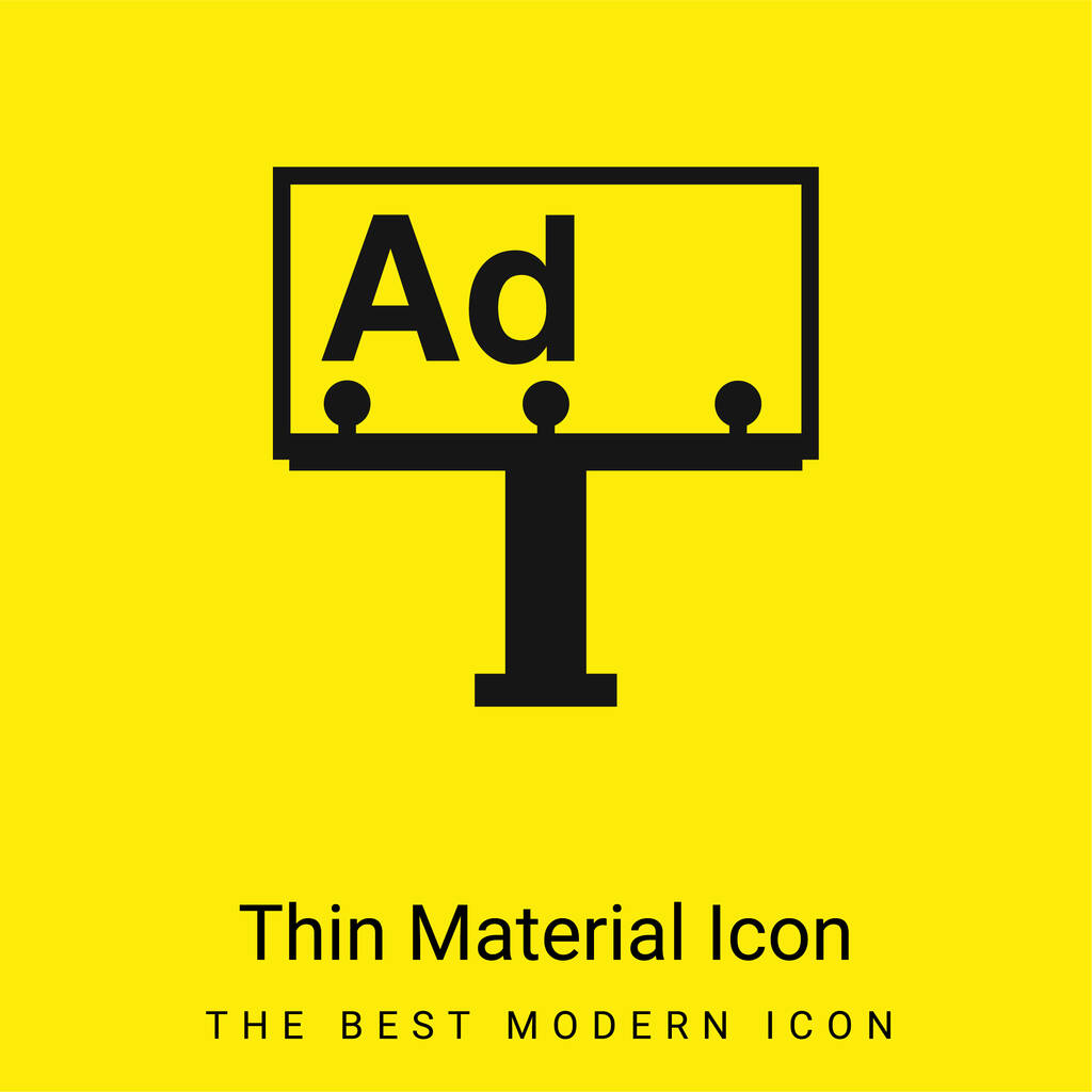 Billboard minimal bright yellow material icon