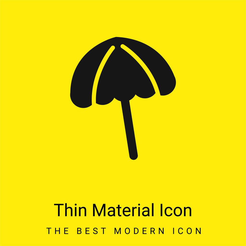 Black Beach Umbrella minimal bright yellow material icon
