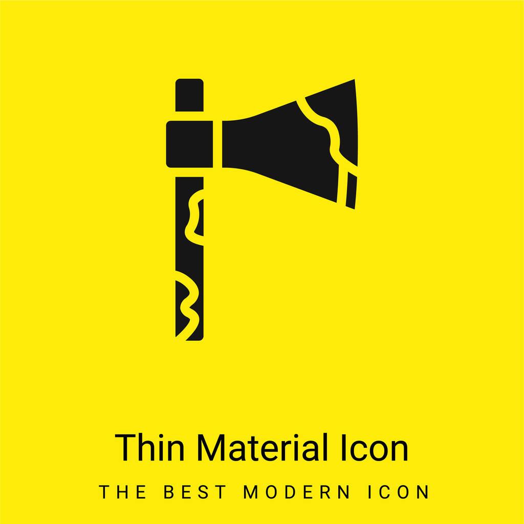 Axe minimal bright yellow material icon