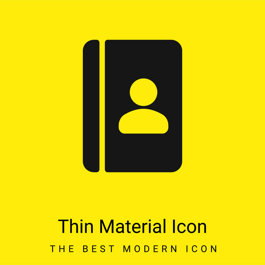 Agenda minimal bright yellow material icon
