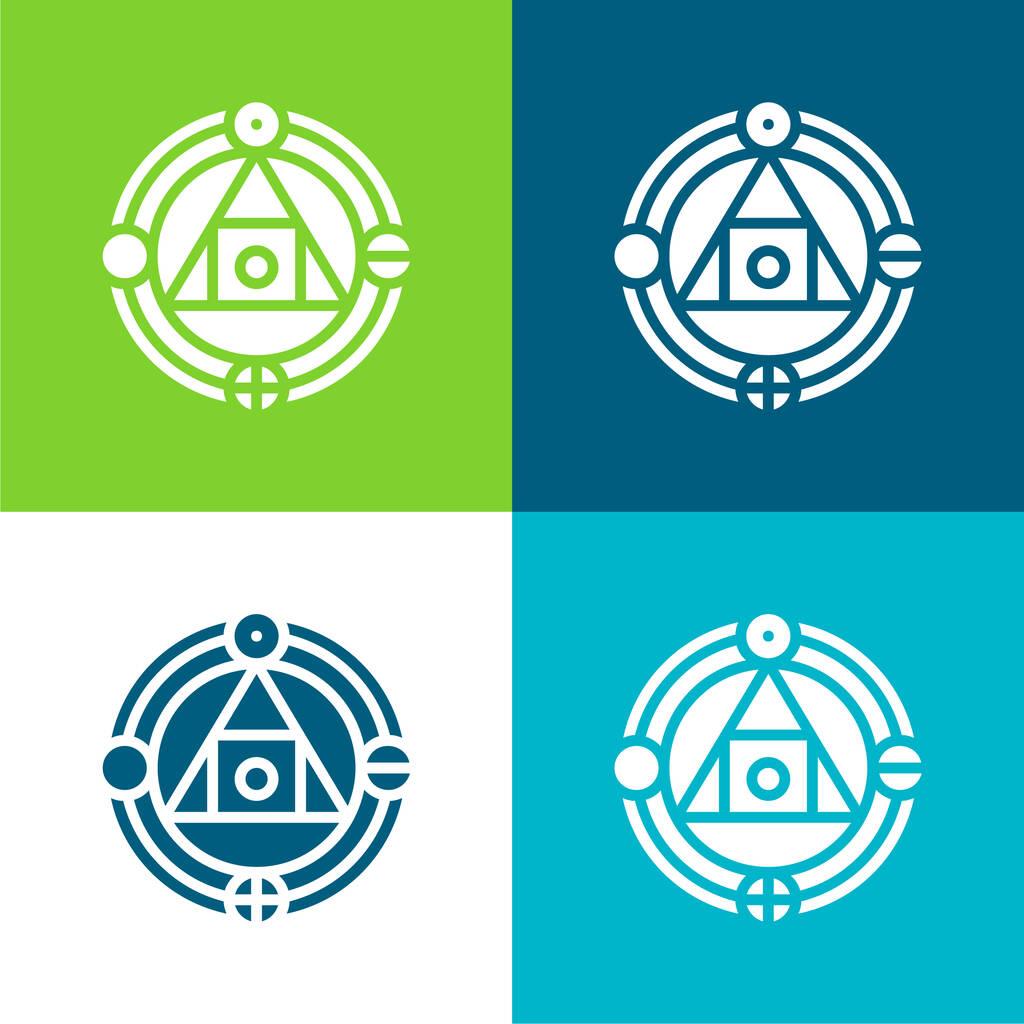 Alchemy Flat four color minimal icon set