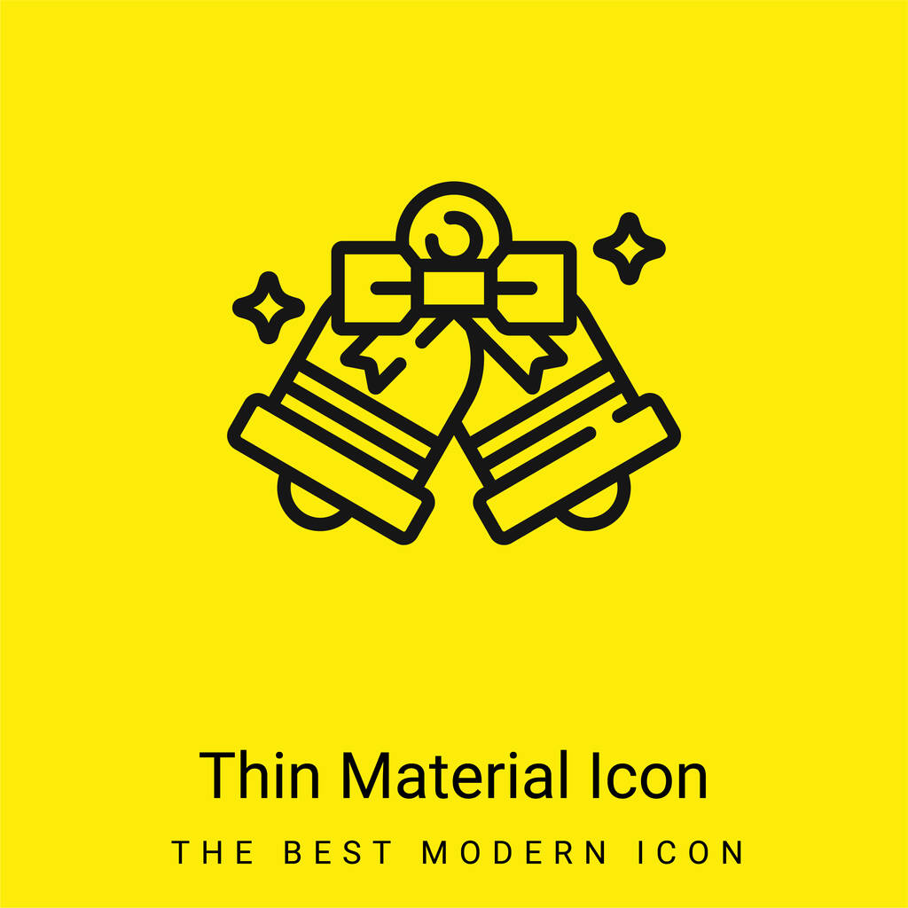Bells minimal bright yellow material icon