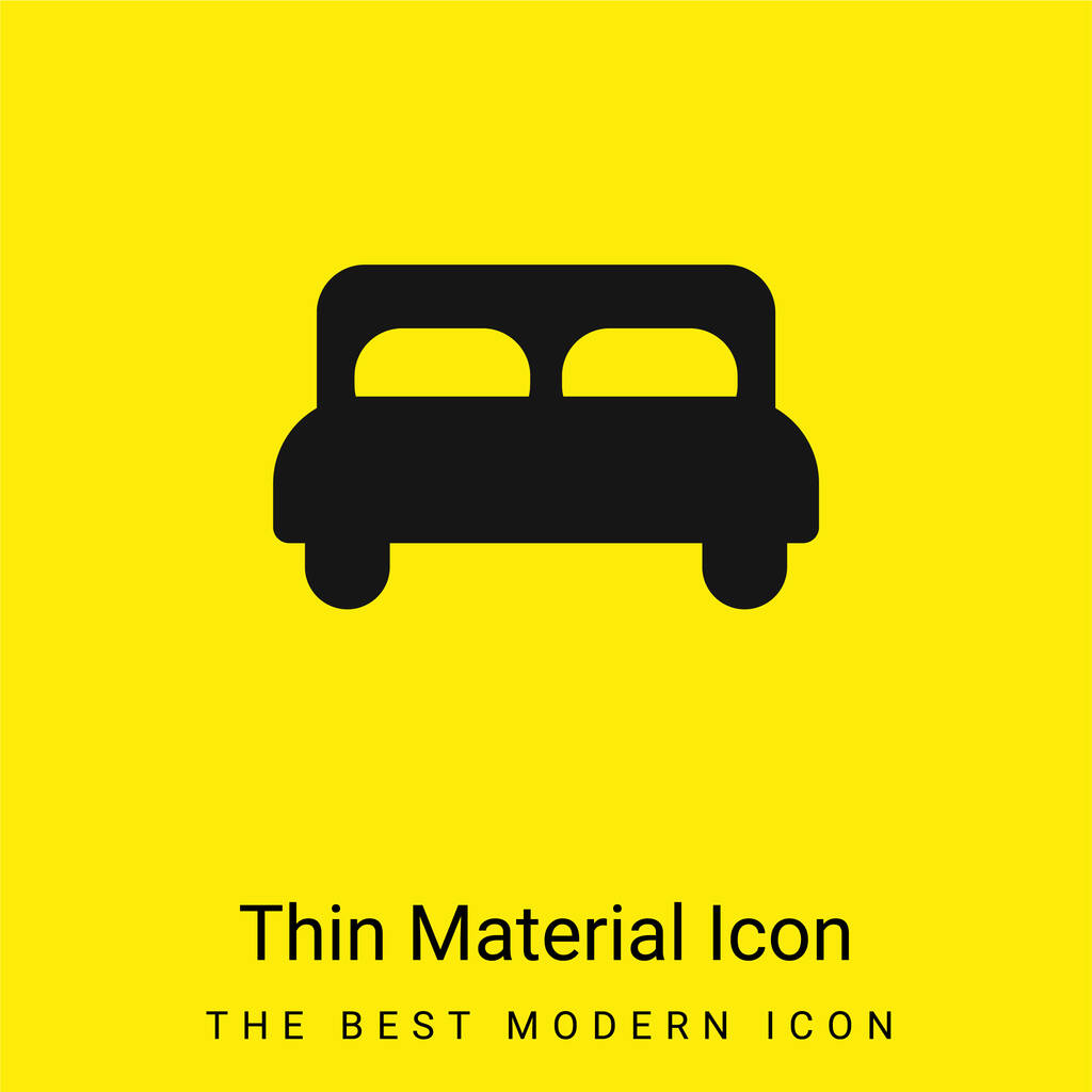 Bed minimal bright yellow material icon