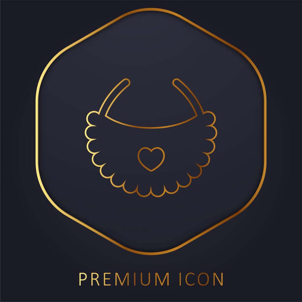 Bib golden line premium logo or icon