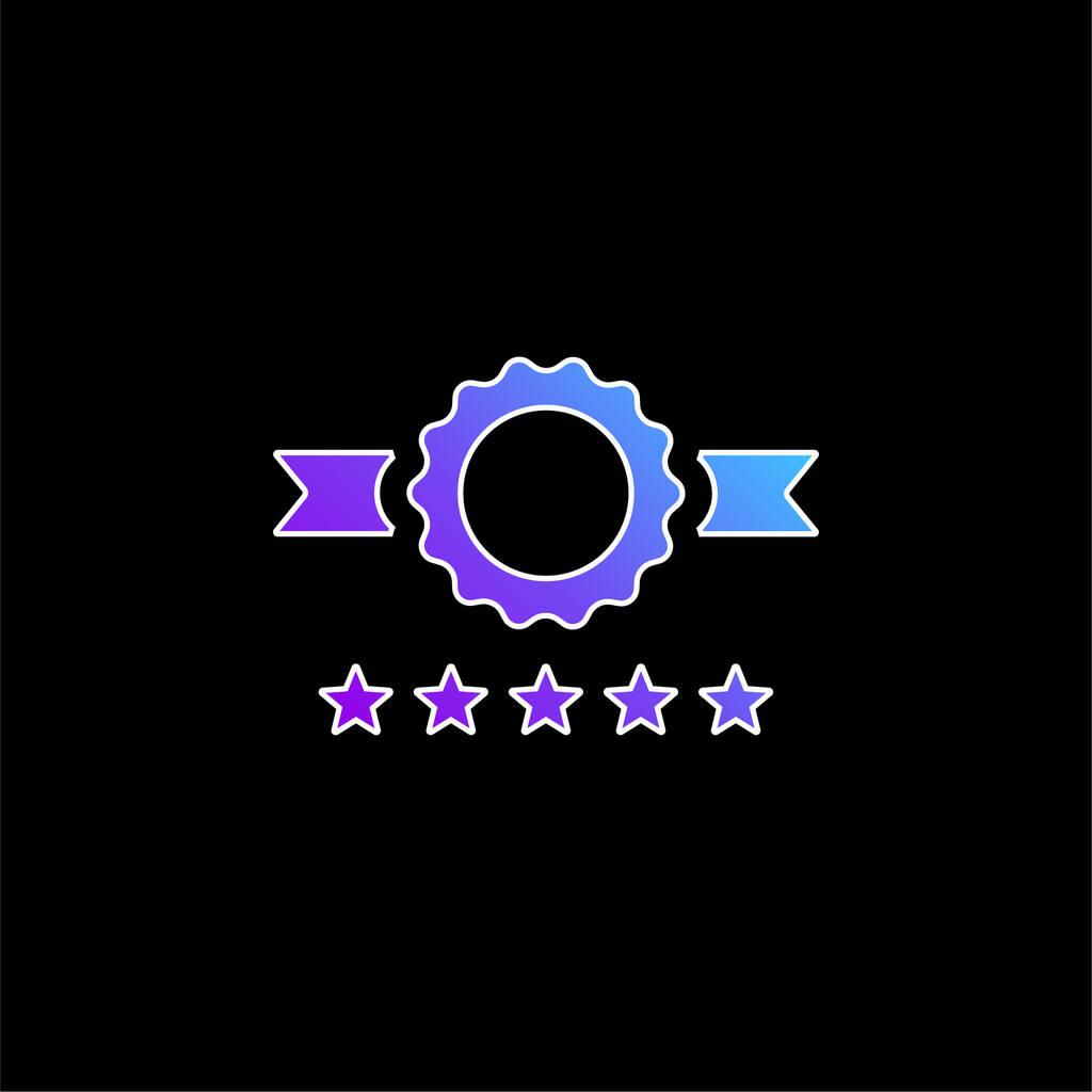 Badge blue gradient vector icon