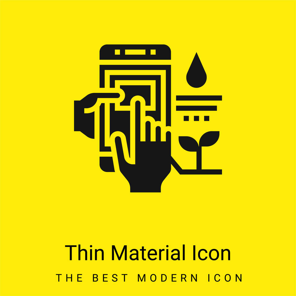Agriculture minimal bright yellow material icon