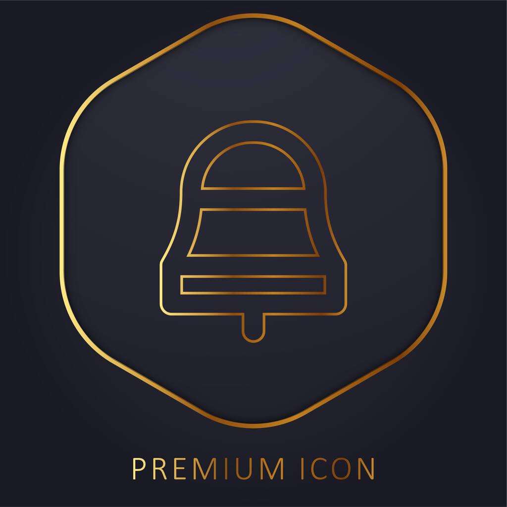 Bell golden line premium logo or icon