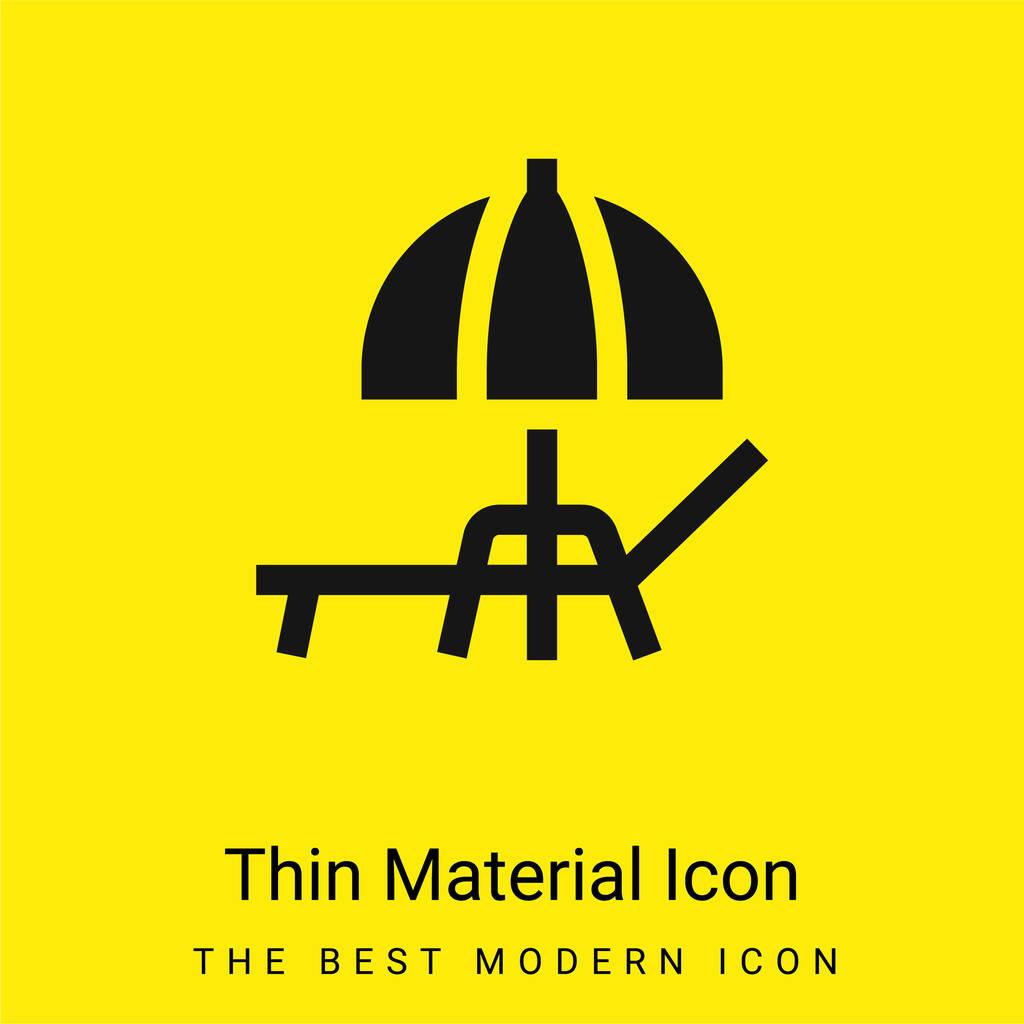 Beach Umbrella minimal bright yellow material icon