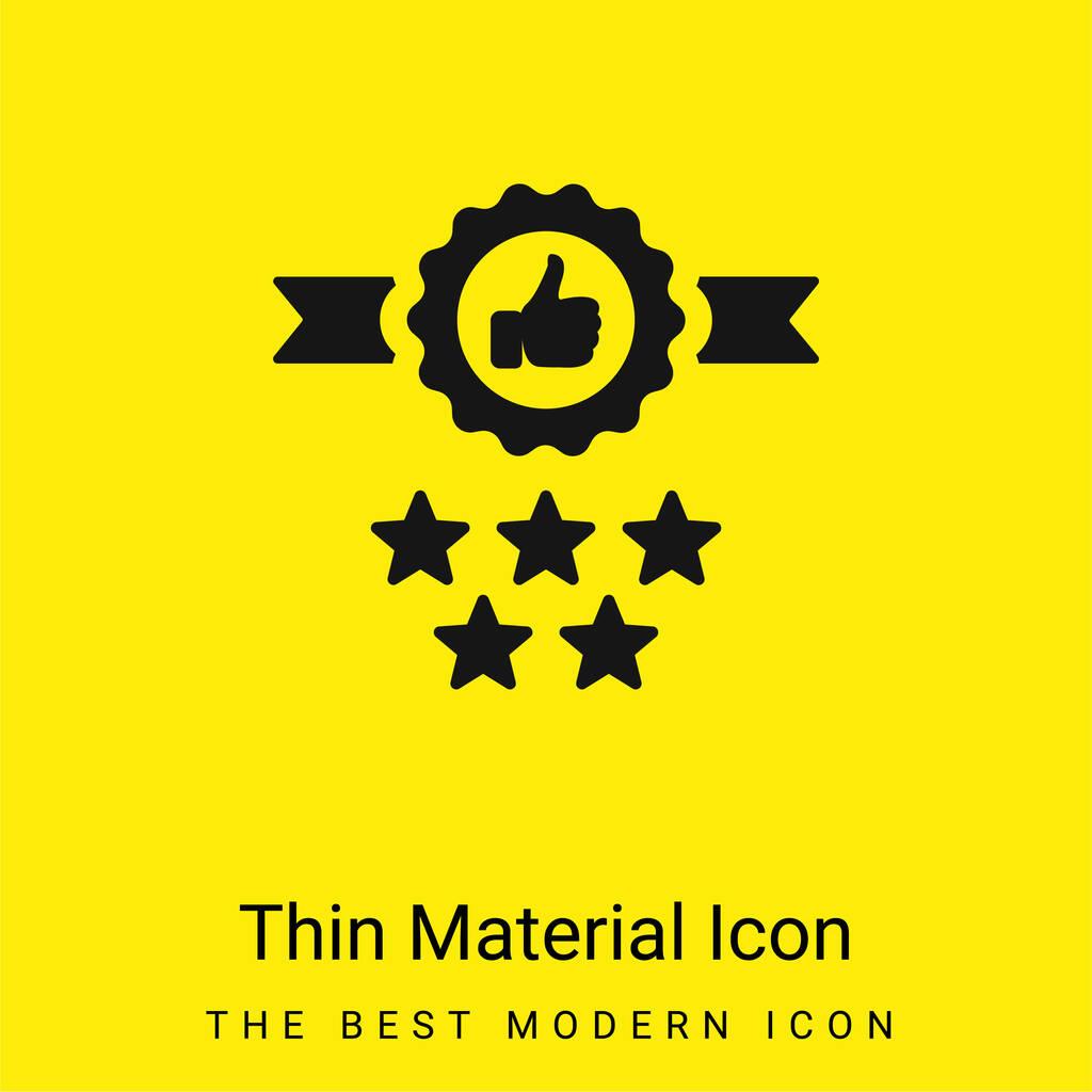 Badge minimal bright yellow material icon