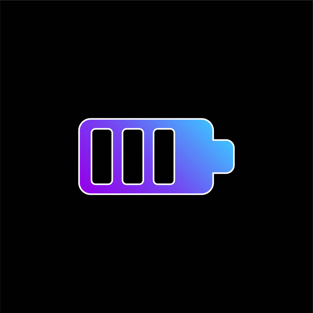 Battery blue gradient vector icon