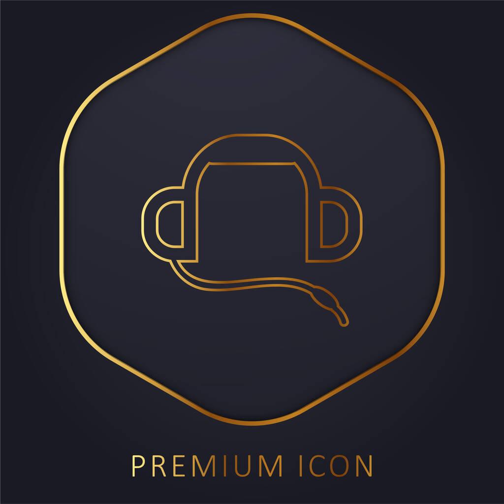 Auriculars golden line premium logo or icon