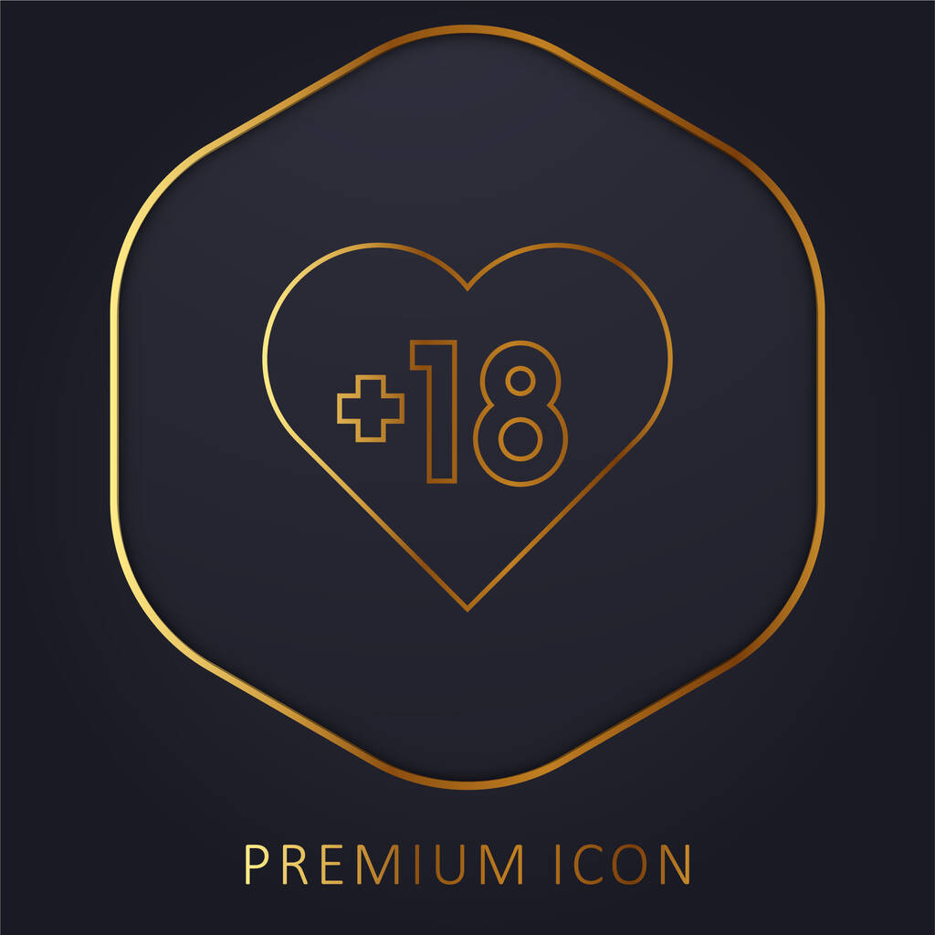 Adult golden line premium logo or icon