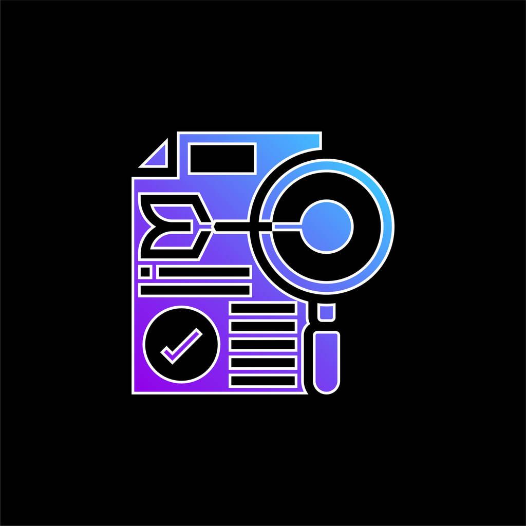 Accuracy blue gradient vector icon