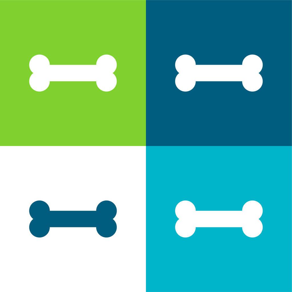 Bone Flat four color minimal icon set